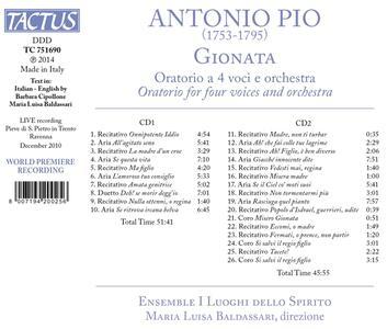 Gionata - CD Audio di Antonio Pio - 2