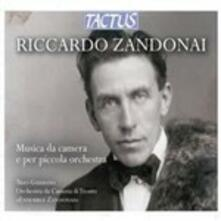 Musica da camera e per piccola orchestra - CD Audio di Riccardo Zandonai,Trio Guarino
