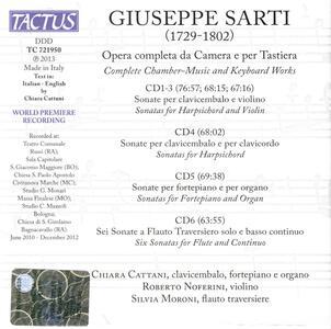 Musica da camera completa per tastiera - CD Audio di Giuseppe Sarti,Chiara Cattani - 2