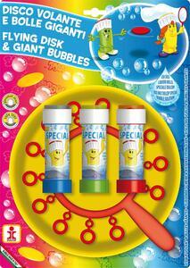 Dulcop Bubble World. Bolle di Sapone. Disco Volante Bolle Giganti. Piatto + Soffiatore Multiplo + 3 Flaconi 60 Ml - 2