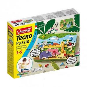 Giocattolo Tecno puzzle giungla e savana Quercetti 0