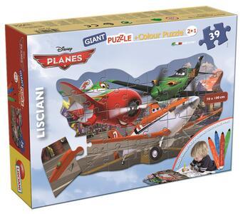 Puzzle Color Plus gigante sagoma Planes - 2