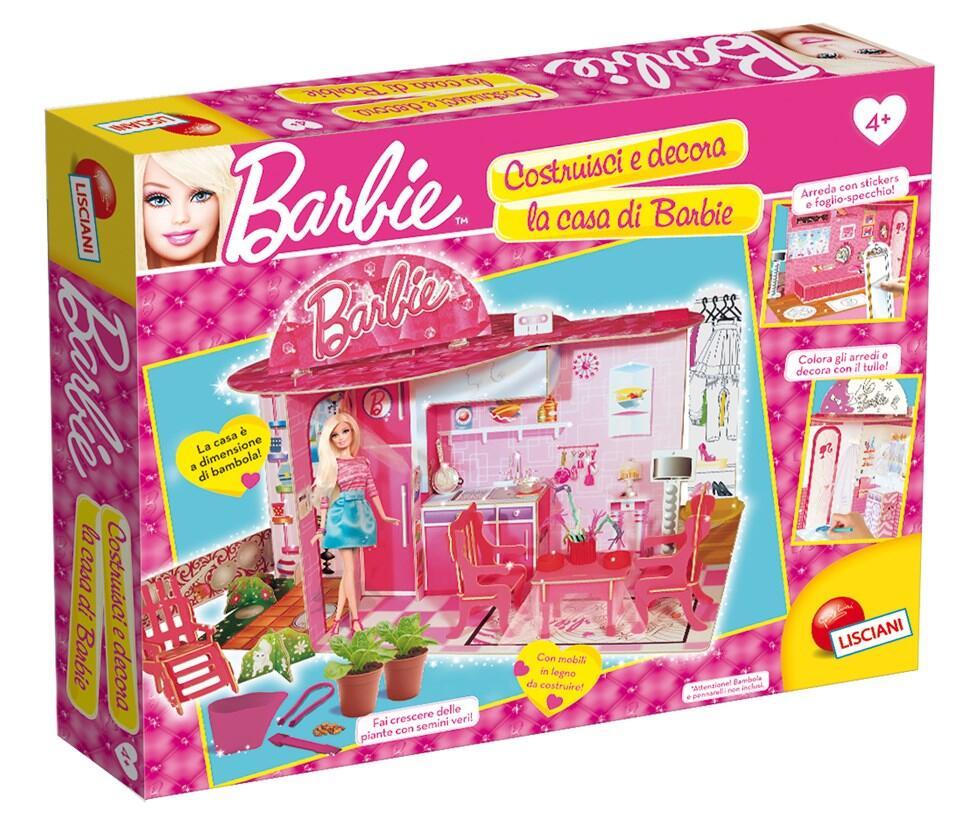 Barbie costruisci e decora la mia casa verde lisciani for Costruisci la mia casa