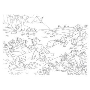 Giocattolo Puzzle + Color Fustino Maxi 48 La Carica dei 101 Lisciani 3