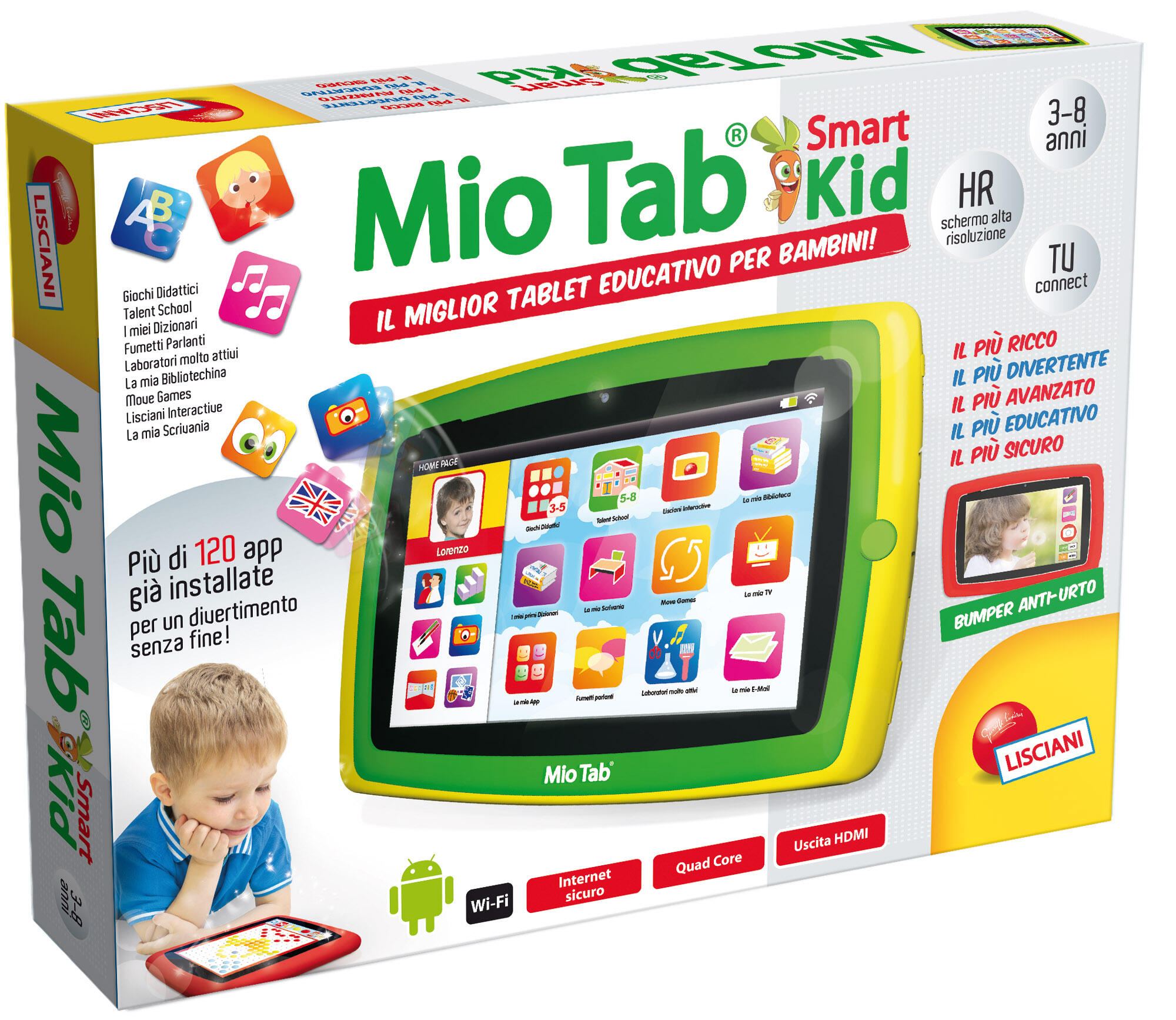 226cf49fd1 Mio Tab Smart Kid HD - Lisciani - Mio Tab 2013 - Elettronici ...
