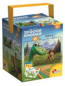 Giocattolo The Good Dinosaur. Il Viaggio di Arlo. Fustino Color e Puzzle Maxi 48 pezzi Lisciani