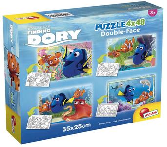 Giocattolo Puzzle Double-Face Super 4 x 48 pezzi Alla ricerca di Dory Lisciani 0