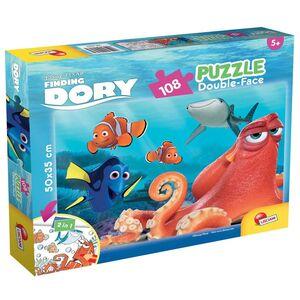 Giocattolo Puzzle Double-Face Plus 108 pezzi Alla ricerca di Dory Lisciani