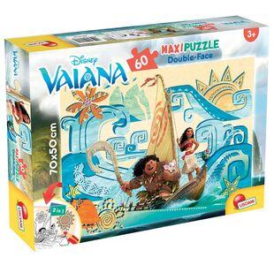 Giocattolo Puzzle Double-Face Supermaxi 60 pezzi Vaiana (Oceania) Lisciani