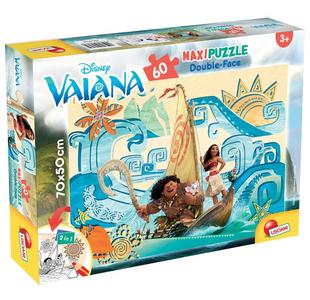 Giocattolo Puzzle Double-Face Supermaxi 60 pezzi Vaiana (Oceania) Lisciani 0