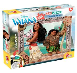 Giocattolo Puzzle Double-Face Supermaxi 108 pezzi Vaiana 2 (Oceania) Lisciani 0