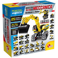 Giocattolo Scienza Hi Tech Maestri Di Meccanica Bulldozer E Robot 25 In 1 Lisciani