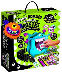 Giocattolo Kids Love Monsters Domino, Tombola e Memo Dei Mostri Lisciani