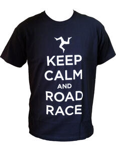 T-Shirt Unisex Tourist Trophy. Keep Calm And Road Race
