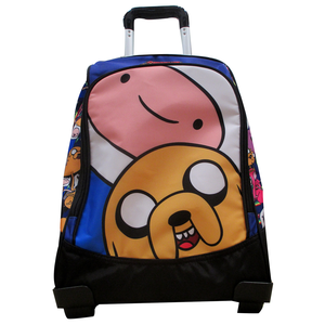 Cartoleria Zaino Organizzato con Trolley Adventure Time Panini 1