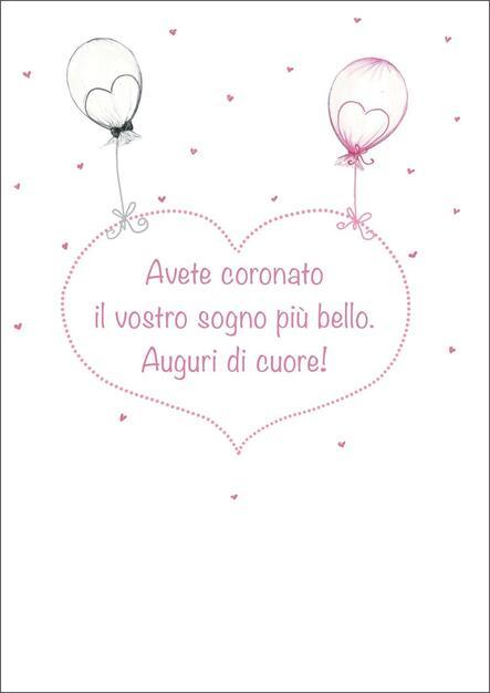 cdd162329084 Biglietto matrimonio Turnowsky. Palloncini - Turnowsky - Cartoleria ...
