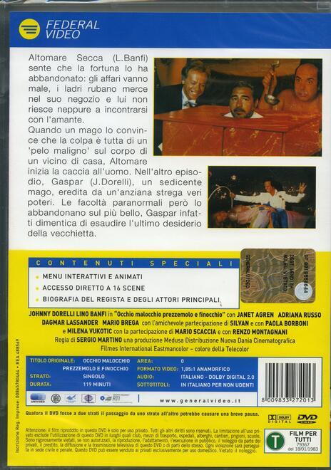 Occhio malocchio prezzemolo e finocchio di Sergio Martino - DVD - 2