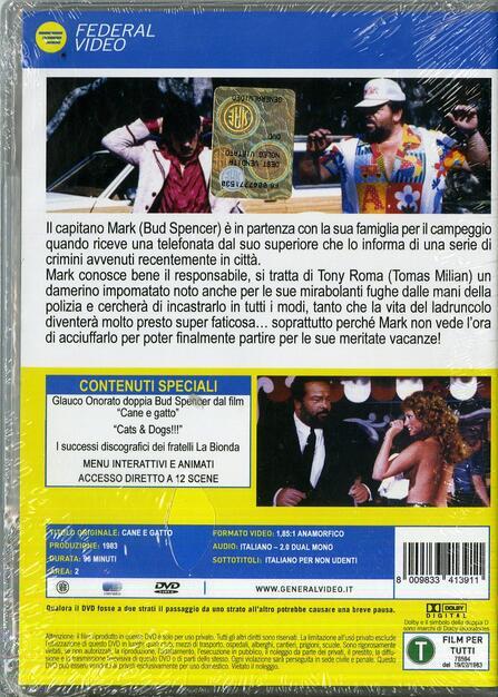 Cane E Gatto Dvd Film Di Bruno Corbucci Commedia Ibs