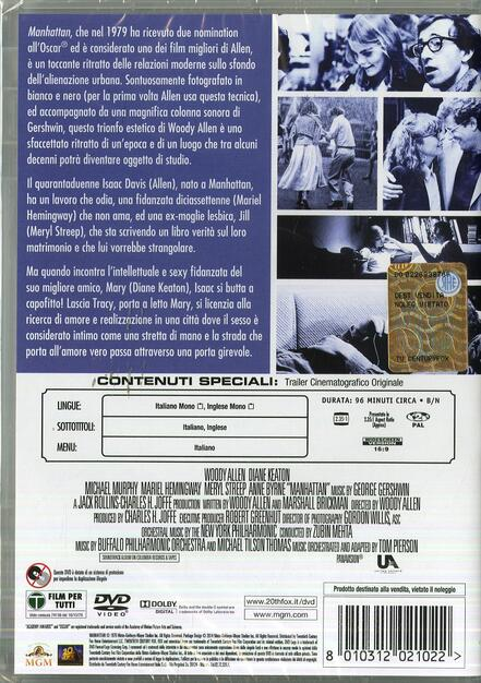 Manhattan - DVD - Film di Woody Allen Commedia | IBS
