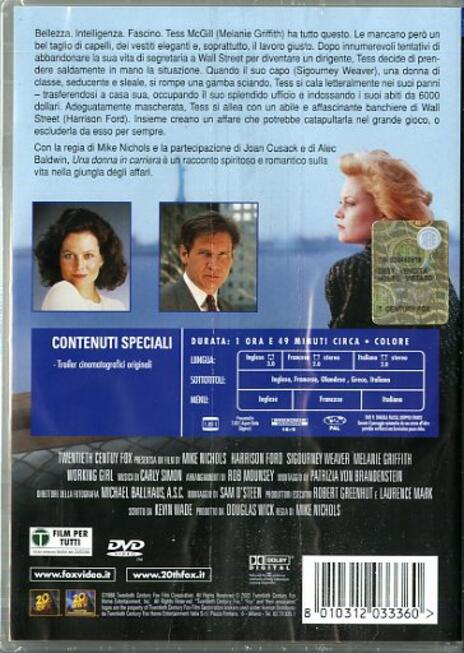 Una donna in carriera di Mike Nichols - DVD - 2