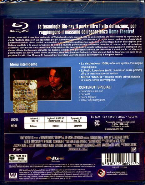 La vera storia di Jack lo squartatore di Albert Hughes,Allen Hughes - Blu-ray - 2