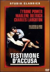 Testimone d'accusa di Billy Wilder - DVD