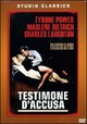 Cover Dvd Testimone d'accusa