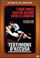 Cover Dvd Testimone d'accusa
