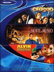 Eragon - Una notte al museo - Alvin Superstar (3 Blu-ray) di Stefen Fangmeier,Tim Hill,Shawn Levy