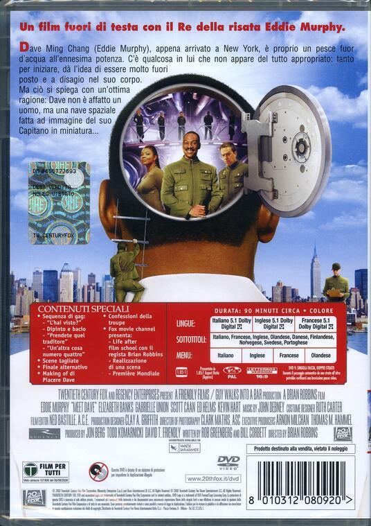 Piacere Dave di Brian Robbins - DVD - 2