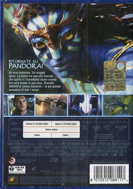 Avatar di James Cameron - DVD - 2