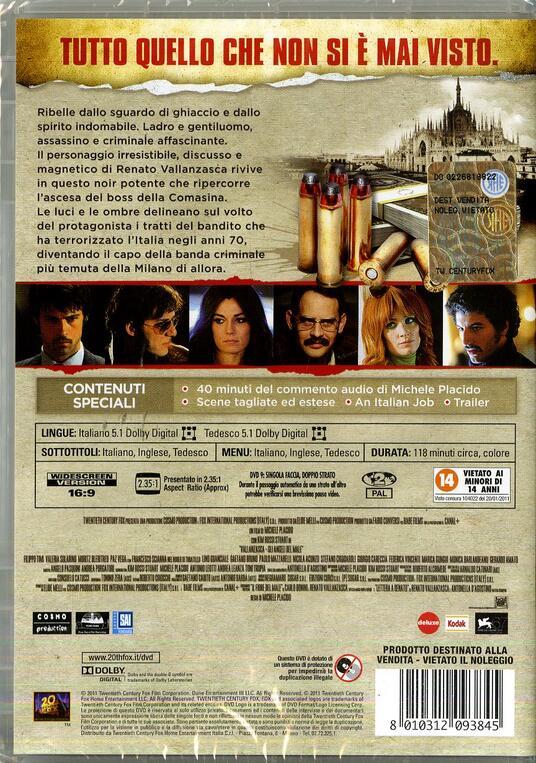 Vallanzasca. Gli angeli del male di Michele Placido - DVD - 2