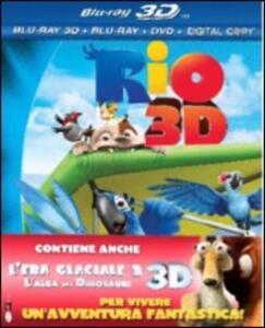 Rio 3D - L'era glaciale 3 3D (2 DVD + 2 Blu-ray + 2 Blu-ray 3D) di Carlos Saldanha,Mike Thurmeier