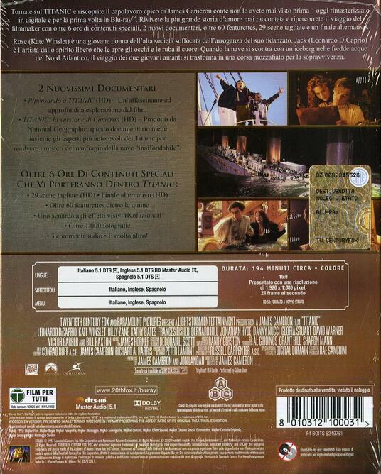Titanic (2 Blu-ray) di James Cameron - Blu-ray - 2