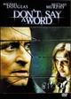 Cover Dvd DVD Don't Say a Word