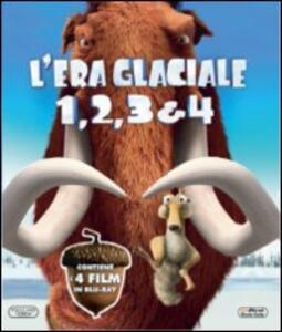 L' era glaciale 1, 2, 3 & 4 (4 Blu-ray) di Steve Martino,Carlos Saldanha,Mike Thurmeier