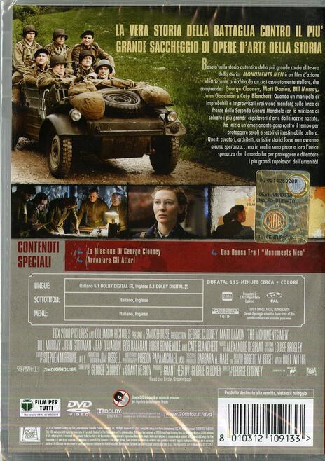 Monuments Men di George Clooney - DVD - 2