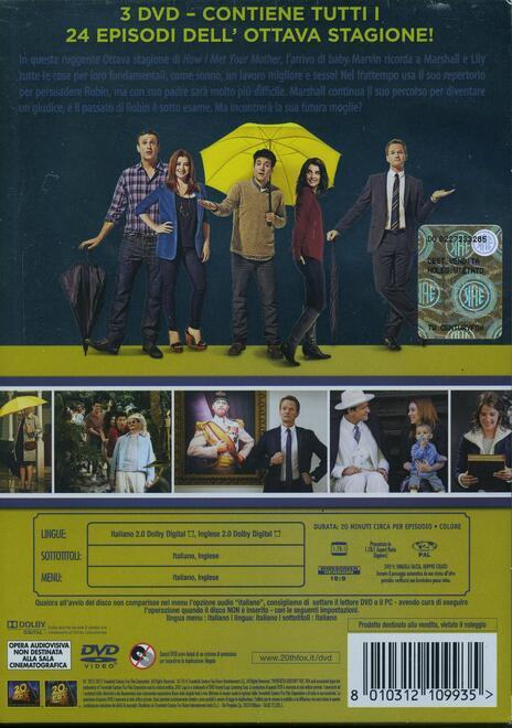 How I Met Your Mother. Alla fine arriva mamma. Stagione 8 (3 DVD) di Pamela Fryman,Rob Greenberg,Michael J. Shea - DVD - 2