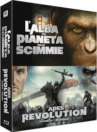 Cover Dvd Il pianeta delle scimmie. 2-Pack. Alba. Revolution (Blu-ray)