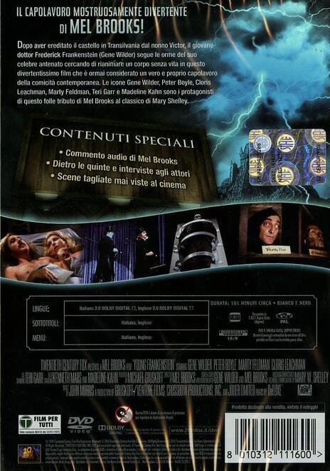Frankenstein Junior<span>.</span> 40th Anniversary di Mel Brooks - DVD - 2