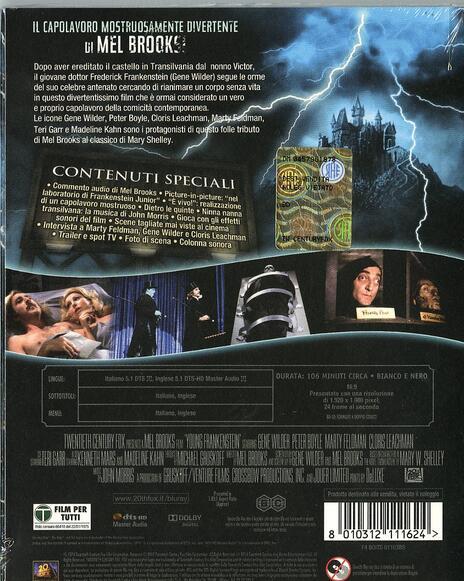Frankenstein Junior<span>.</span> 40th Anniversary di Mel Brooks - Blu-ray - 2