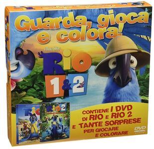 Rio 1 & 2. Guarda, gioca e colora (2 DVD) di Carlos Saldanha