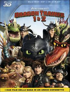 Dragon Trainer 1 & 2 3D (Blu-ray + Blu-ray 3D) di Dean DeBlois,Chris Sanders