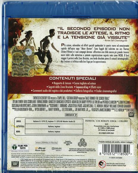 Maze Runner. La fuga di Wes Ball - Blu-ray - 2