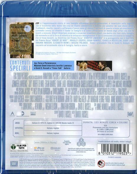Joy di David O. Russell - Blu-ray - 2
