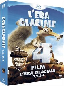 L' era glaciale 1, 2, 3, 4 (DVD + 4 Blu-ray) di Steve Martino,Carlos Saldanha,Mike Thurmeier,Chris Wedge