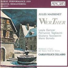Werther - CD Audio di Jules Massenet,Carlo Felice Cillario
