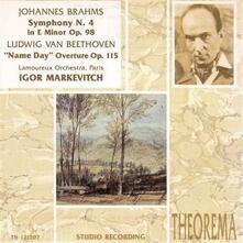 Sinfonia n.4 - CD Audio di Johannes Brahms,Igor Markevitch
