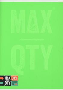 Cartoleria Quaderno standard A5 Seven MAX QTY Green Fluo. 1 rigo con margine Seven 4