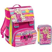 Schoolpack Barbie Love. Zaino estensibile + Astuccio organizzato 3 zip + Barbie Fashionistas